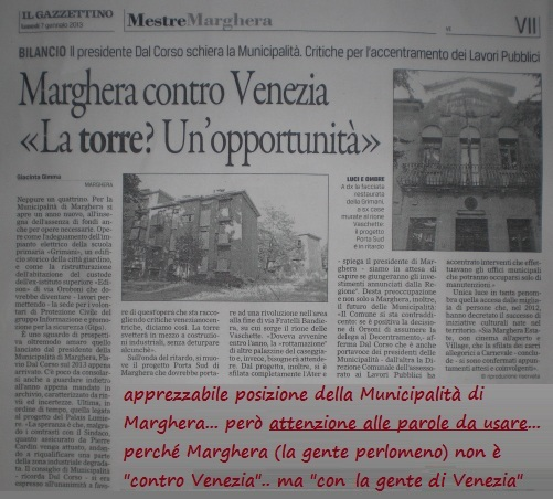 marghera con venezia posizione municipalità marghera comitato sì palais lumiere a marghera